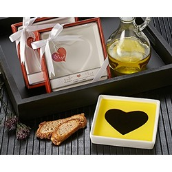 """Love Infused"" Olive Oil and Balsamic Vinegar Dipping Plate"