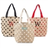 Personalized Polka Dot Natural Jute Tote Bags (3 Colours Available)