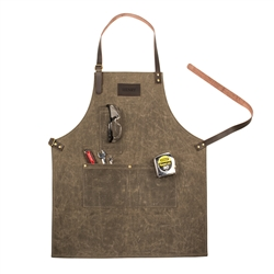 Personalized Men's Waxed Canvas Apron