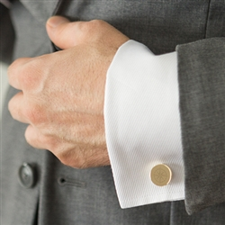 Compass Round Cuff Links  (2 colours available)