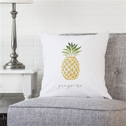 "Personalized Pineapple 16"" Throw Pillow"