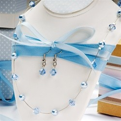 Pearl & Crystal Jewelry Set (Variety of Colours)