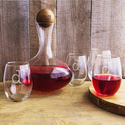 Personalized Wine Decanter Glass Set On Sale At The
