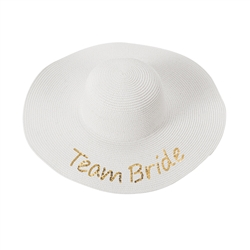 Gold Sequin Team Bride Sun Hat