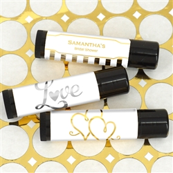 Metallic Foil Lip Balm Favors (Black Tube)