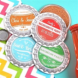 Vintage Bottle Cap Two-Sided Coaster