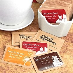 Personalized Natural Raw Sugar Packets - Silhouette Collection (Pgk of 100)