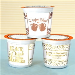 Metallic Foil K-Cup Coffee Favors
