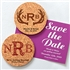 Monogram Round Cork Coaster Magnets