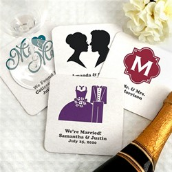 Personalized Square Paper Board Coasters