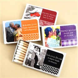 Personalized Photo Matches - Set of 50 (White Box)