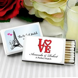 Personalized Matches - Set of 50 (White Box)