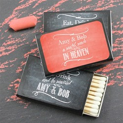 Personalized Matchboxes - Black Box (Set of 50) - Silhouette Collection