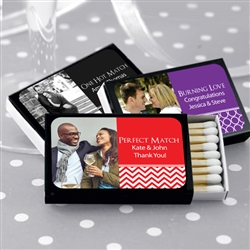 Personalized 	Photo Matches - Set of 50 (Black Box)