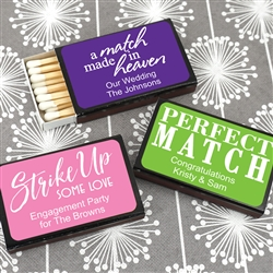 """Perfect Match"" Personalized Matches - Set of 50 (Black Box)"