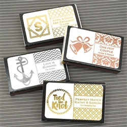 Metallic Foil Personalized Matches - Set of 50 (Black Box)