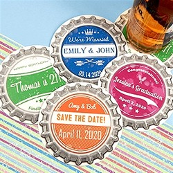 Vintage Bottle Cap Paper Coasters