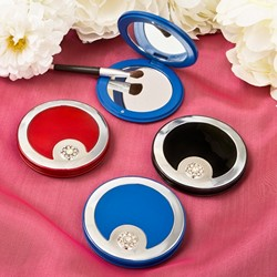Luxury compact mirror (assorted colours)