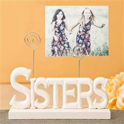 Lovely Rose white Sisters photo holder