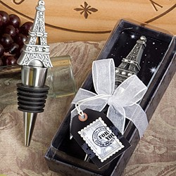 <em>From Paris with Love Collection</em> Eiffel Tower wine bottle stopper  favors