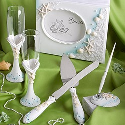 Finishing Touches  Collection of beach themed wedding day accessories Set (4pcs)