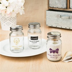 Personalized 3.5 OZ. GLASS MASON JAR