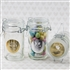 Round Apothecary Jars with Personalized Metallic Stickers