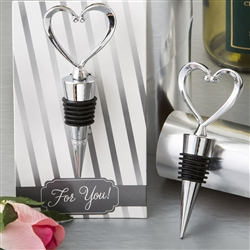 All Metal Heart Wine Bottle Stopper