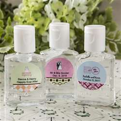 Personalized expressions hand sanitizer favors
