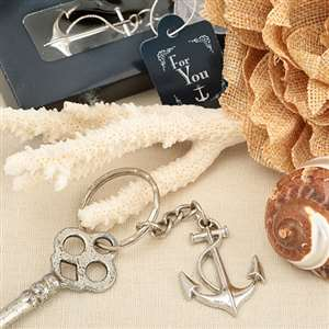 Ocean Themed Anchor Key Chain Favor