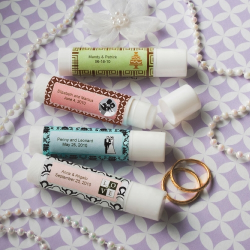 Wedding Party Gifts Canada: Personalized Expressions Collection Lip Balm Favors