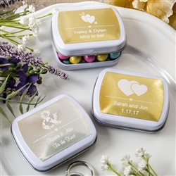 PERSONALIZED METALLICS COLLECTION MINT TINS