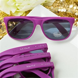 Purple Fashion Sunglasses with Personalized Sticker