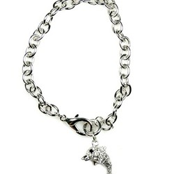 Crystal Dolphin Toggle Bracelet