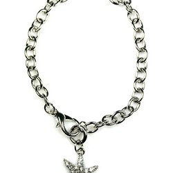 Crystal Starfish Toggle Bracelet