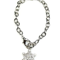 Crystal Snowflake Toggle Bracelet