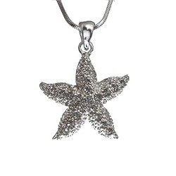 Crystal Puffed Starfish Necklace