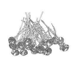 Single Crystal Hair Pins - 20 Pieces (7 colours to choose from)