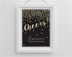 Personalized Cheers! Wedding Poster (18x24)