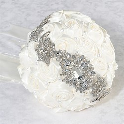 Pearl/Rhinestone Bouquet - Cream