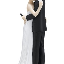 Texting Bride and Groom Figurine