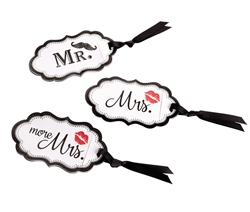 Lips/Mustache Luggage Tags