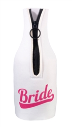 Bride Bottle Cover - White/Pink