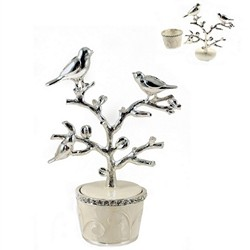 Small Trinket Box with Birds On Branch Lid