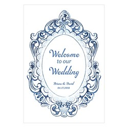 "Vintage Romance ""Welcome"" Directional Poster"