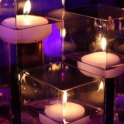 Coloured Floating Candles (Pk of 6)