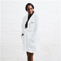 Cozy Fleece Robe - White