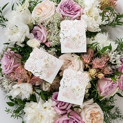 Floral Garden Favor Box (Package of 10)