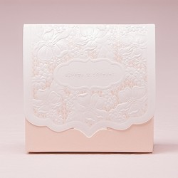 Pretty Lace Favour Box - Blush