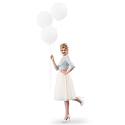 "17"" Large White Round Wedding Balloons"